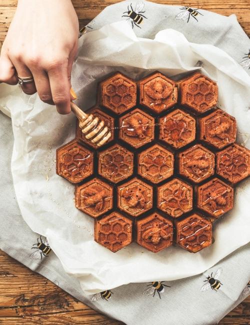 Bienenhof Zillertal Blog Rezept Honigkuchen mit Zimt
